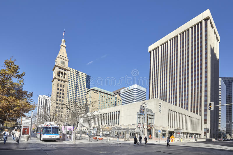 16th Uliczny centrum handlowe, sławny handlowy deptak w Denver obrazy stock
