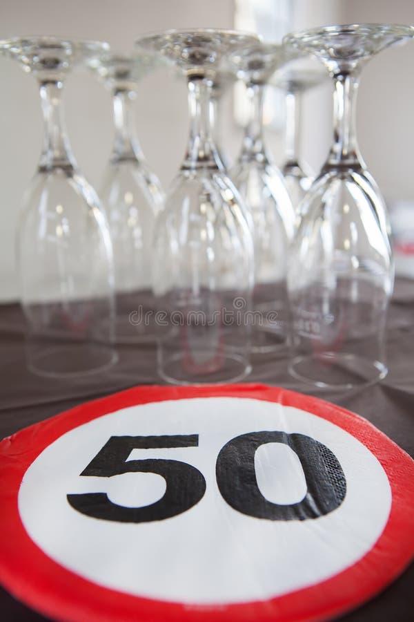50th urodzinowa dekoracja obrazy stock
