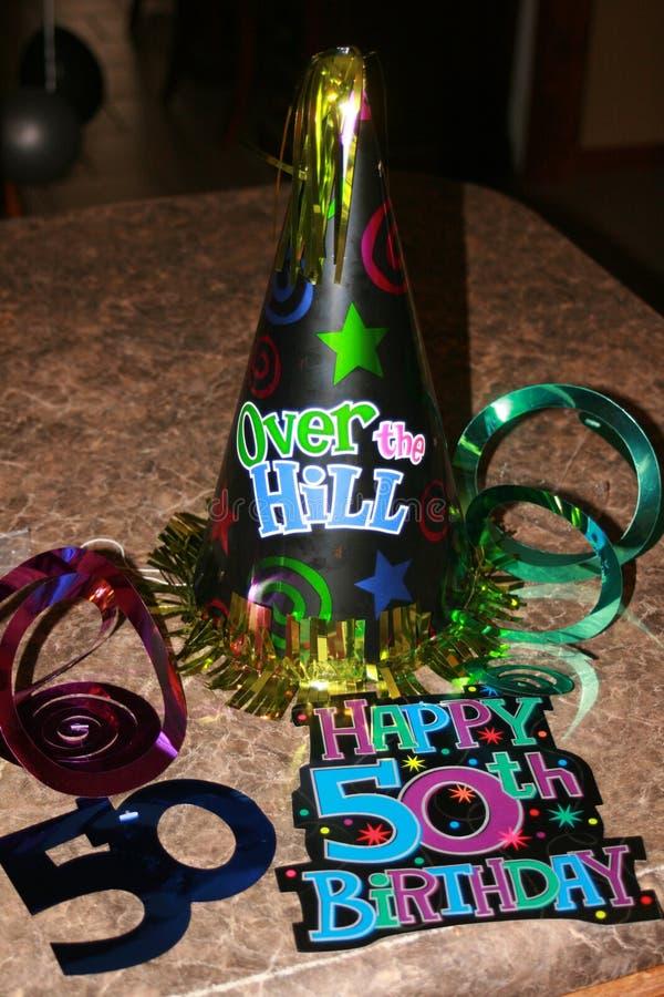 50th Urodzinowi świętowania zdjęcie royalty free