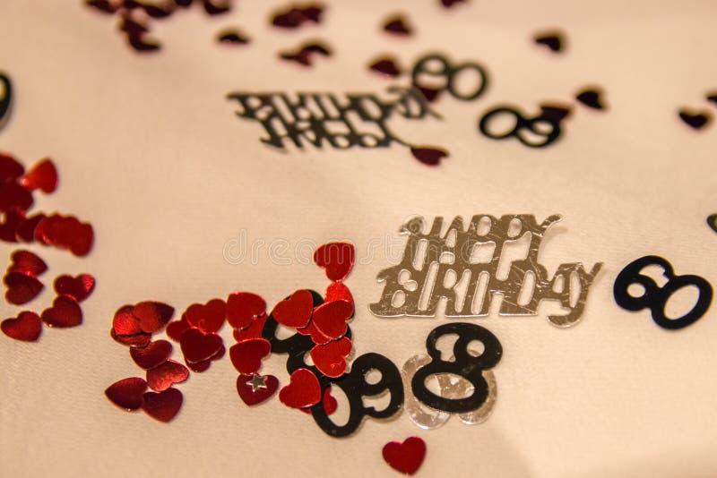60th Urodzinowi confetti fotografia stock