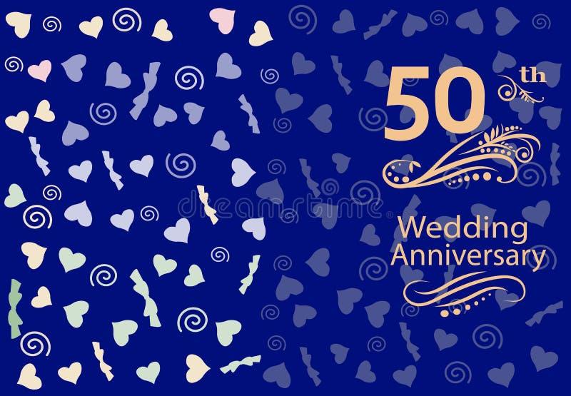 50th Wedding anniversary Invitation royalty free stock photos