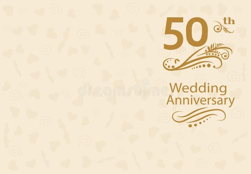 50th Wedding anniversary Invitation royalty free stock photo