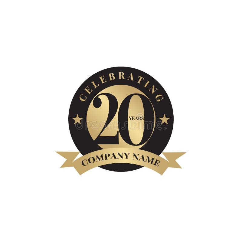 20th Celebrating Anniversary Emblem Logo Design Vector