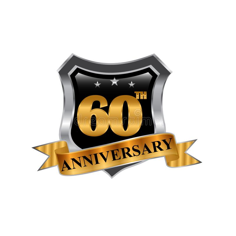 60th years anniversary icon logo. Graphic design element,EPS 8,EPS 10 stock illustration