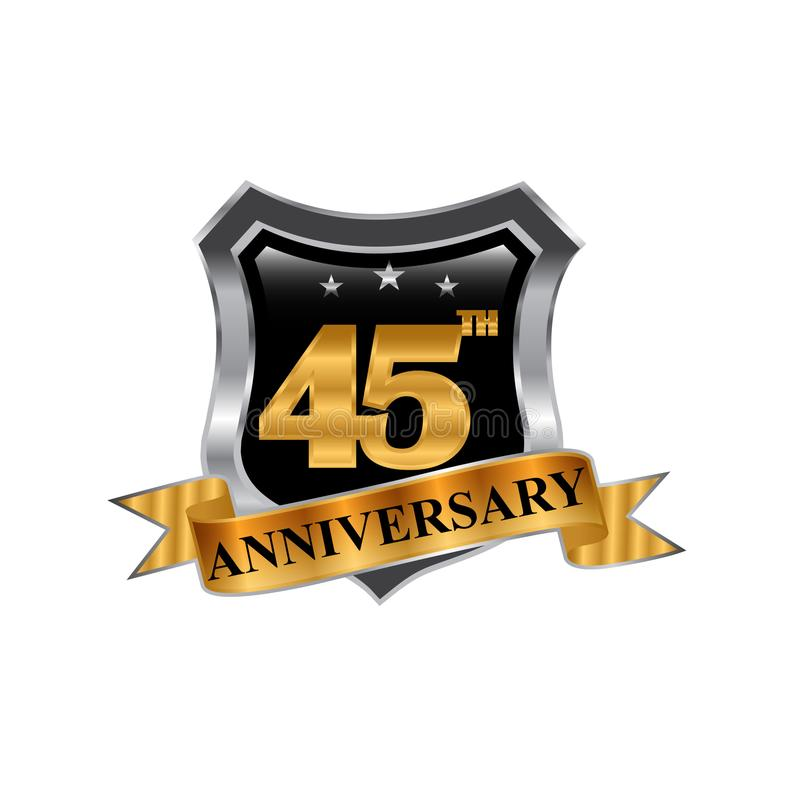 45th years anniversary icon logo. Graphic design element,EPS 8,EPS 10 vector illustration