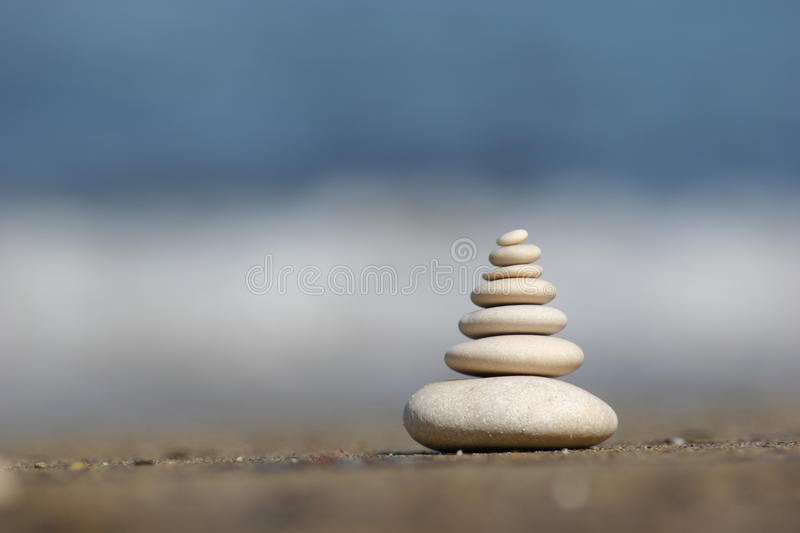 7th Zen. Zen stones photographed on Corfu island, Greece during daytime. Camera used Canon EOS 20D with Tamron 70-300mm f4;5.6 lens royalty free stock photo