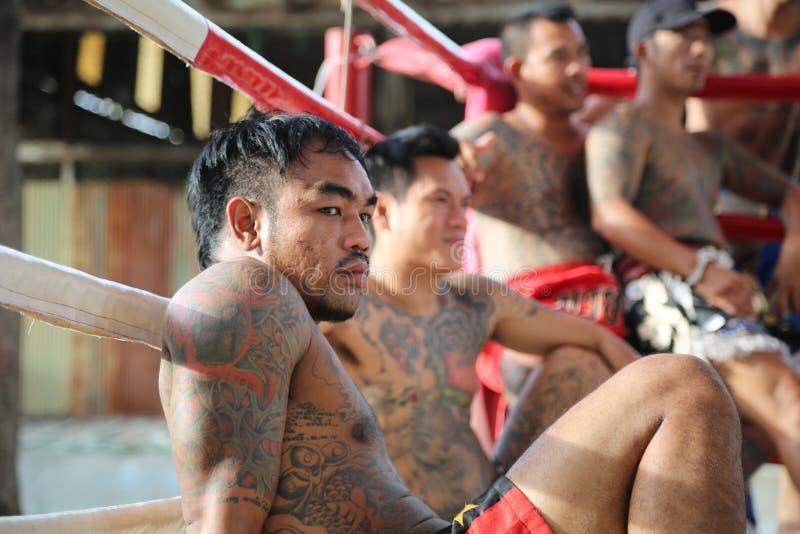 Thaïlandais de Muay - combat de prison photos libres de droits