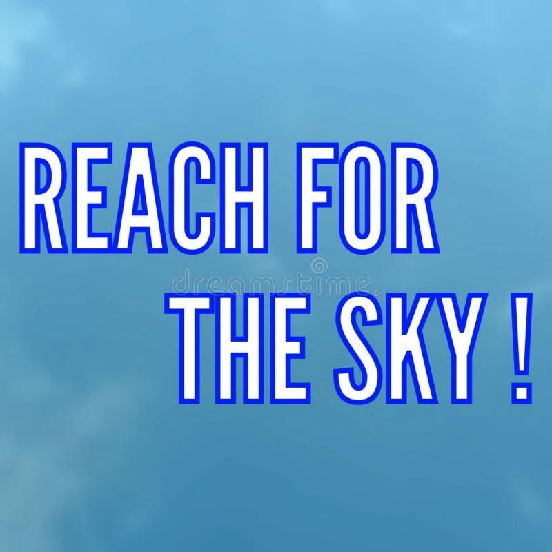 tha天空的伸手可及的距离,海报的印刷术 皇族释放例证