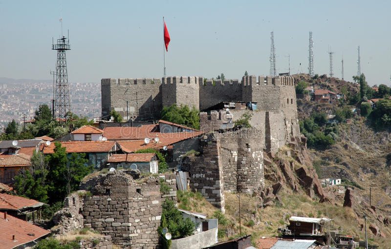Tha Castle of Ankara. A view of Ankara Castle. It's a historical place stock photography