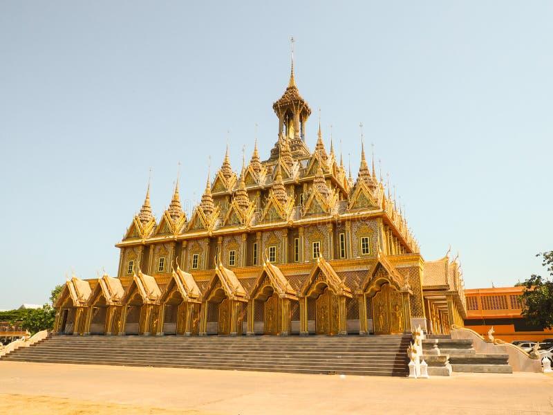 Tha Gezongen gouden tempel stock foto