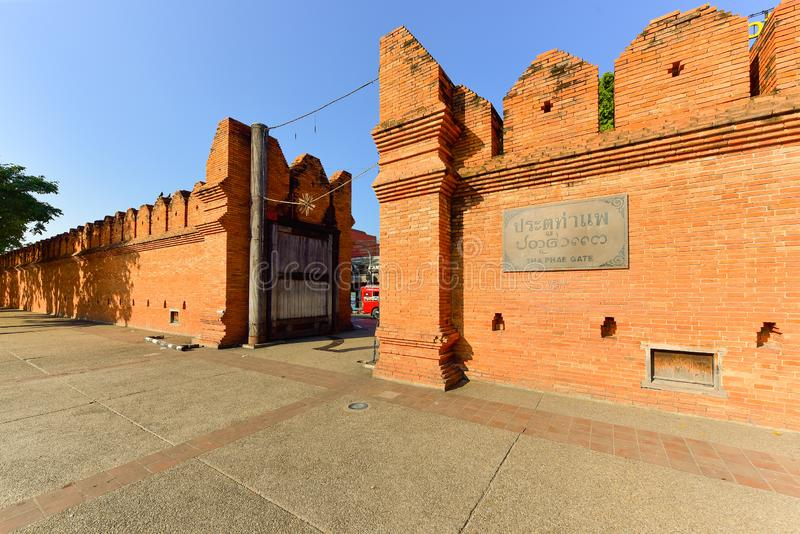 Tha Pae brama, historii forteczna brama, Chiang Mai, Tajlandia zdjęcie royalty free