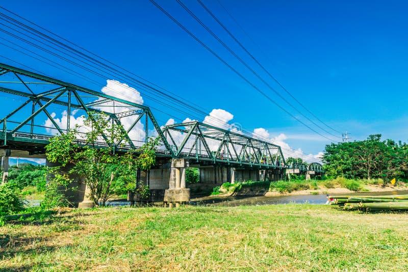 Tha Pai Memorial Bridge Mae Hong Son Province stock images