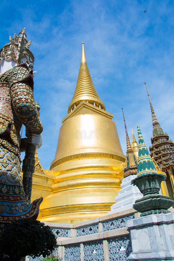 Tha temple of the Emerald Buddha from Thailand royalty free stock image