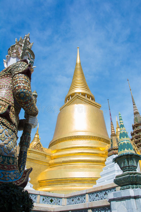 Tha temple of the Emerald Buddha from Thailand royalty free stock photography