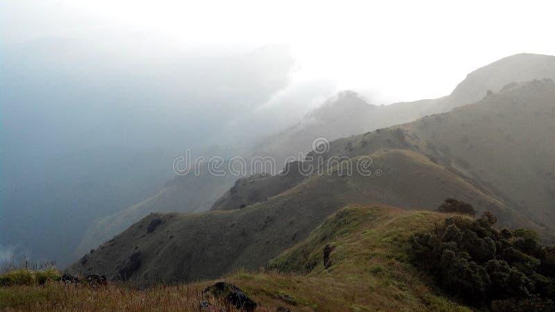Thadiyandamol mountain peak, Coorg, India stock images