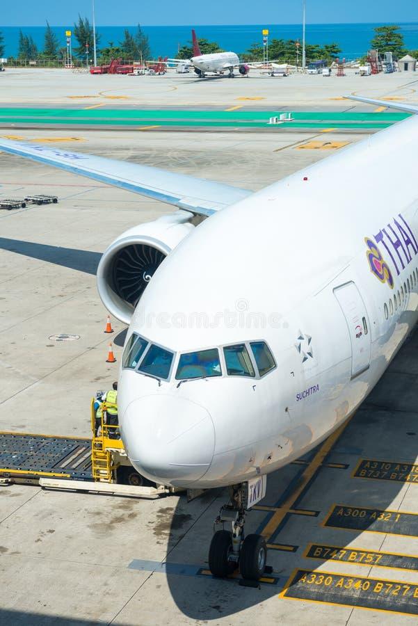Download Thai Airways Aiplane In Phuket International Airport Editorial Stock Image - Image: 96125704