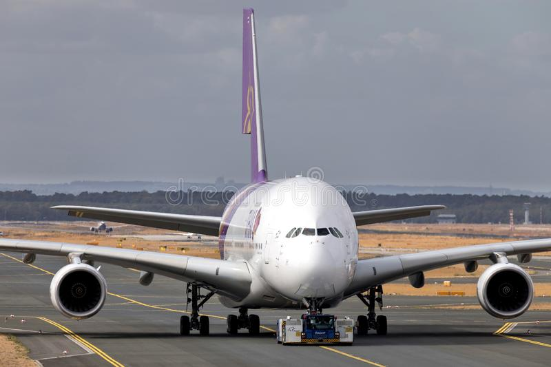 Thai Airways Airbus A380 photo stock