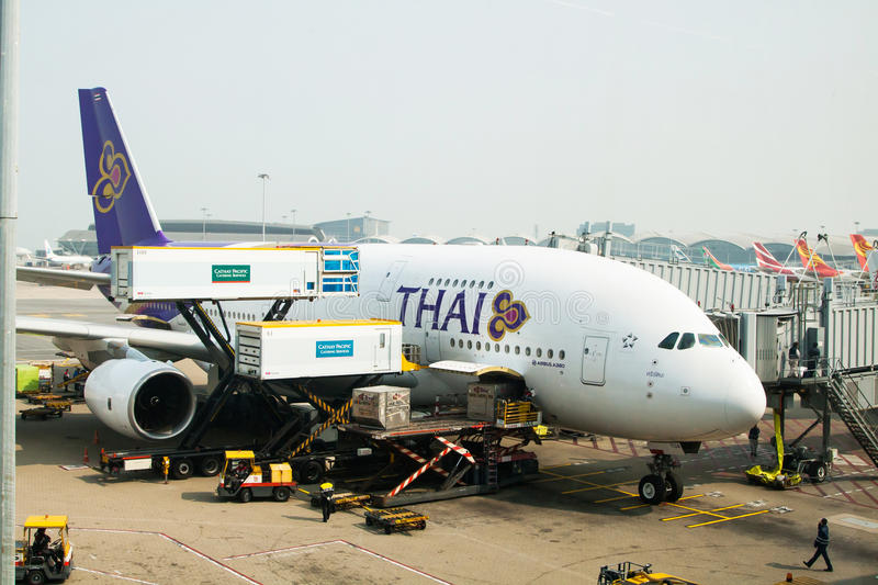 Thai Airways Airbus A380 photographie stock libre de droits