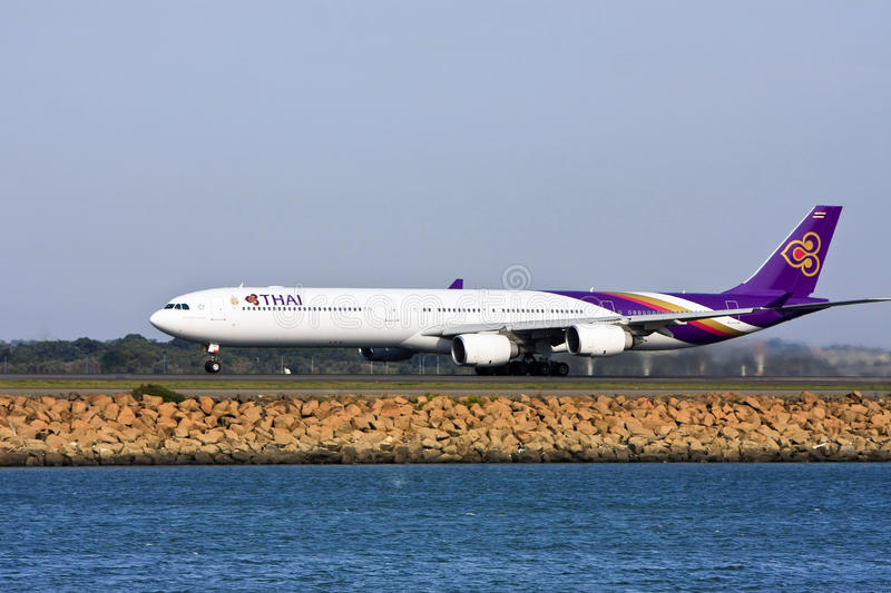 Thai Airways Airbus A340 jet taking off
