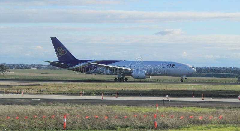 Thai Airways Boing 777 fotografia stock