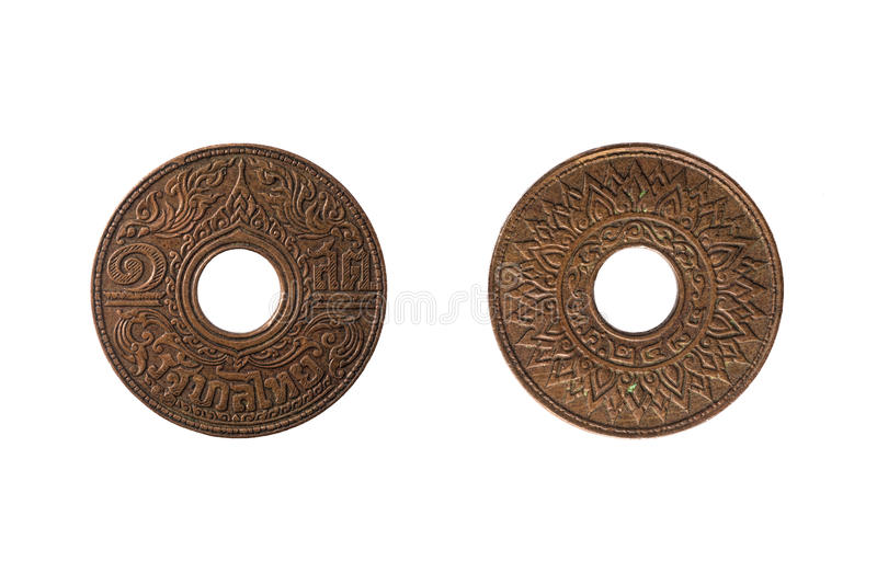 Thai ancient coin royalty free stock photo