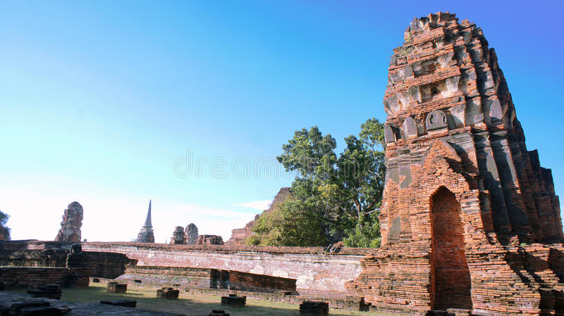 Thai Ancient Kingdom of Ayutthaya royalty free stock photos
