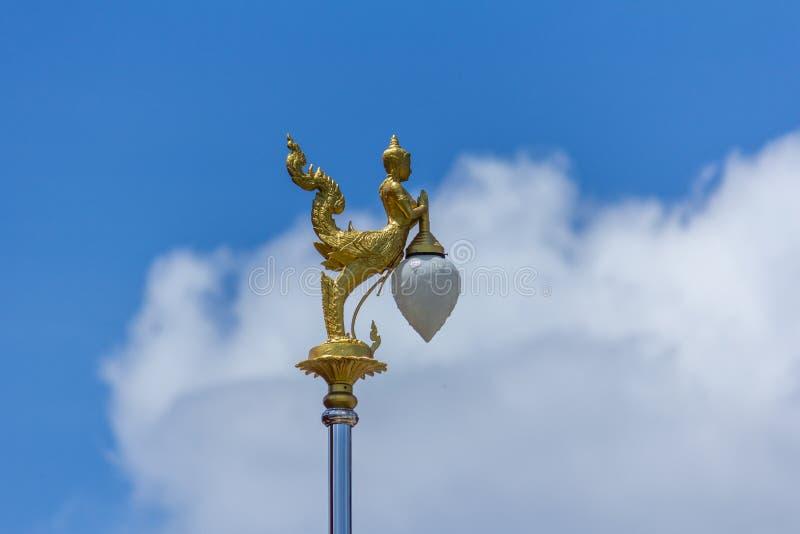 thai angel lamp pole stock images