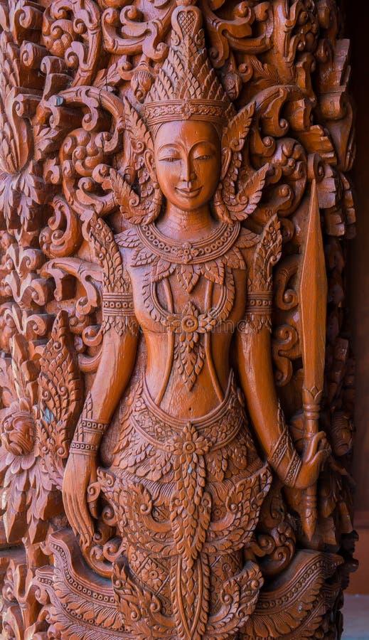 Thai angel statue royalty free stock photos
