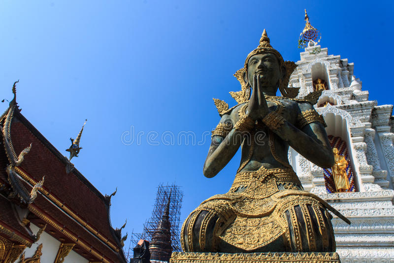 Thai angel in Wat Ban Den royalty free stock photography