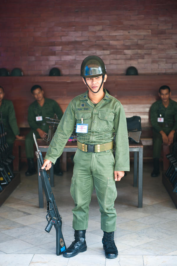 Thai armed soldier stock photography