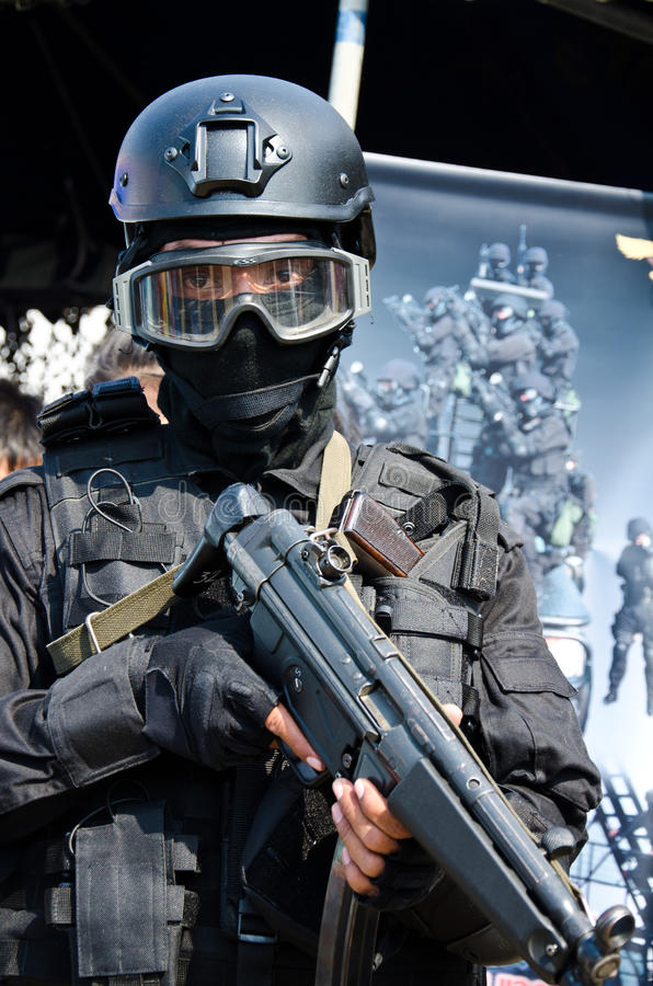 Thai army special forces. stock photo