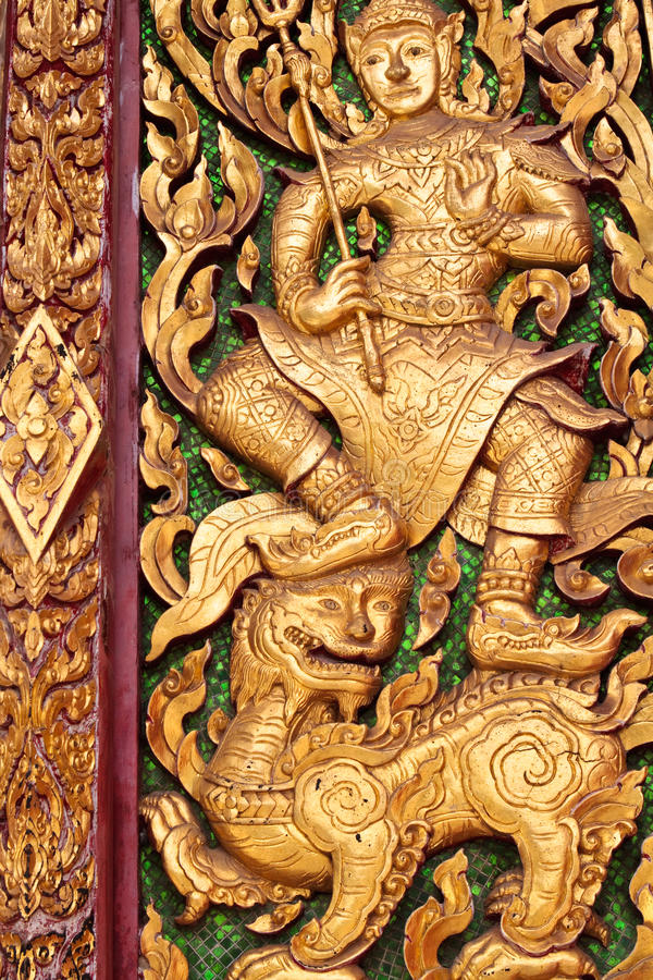 Thai Art. In Thai Temple royalty free stock images