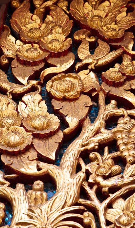 Thai Art. In Thai Temple stock photos
