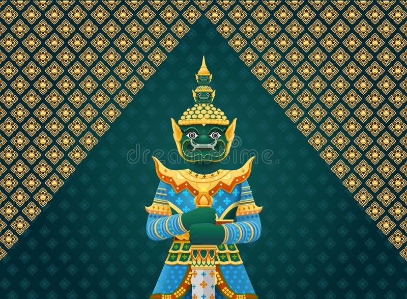 Thai art giant stock illustration