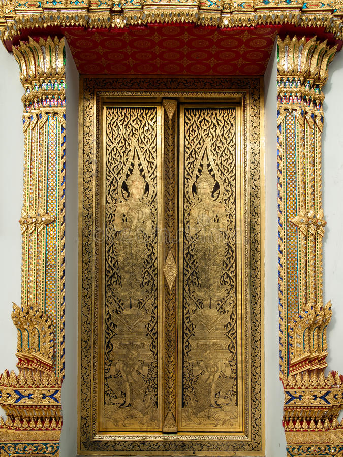 Download Thai Art Gold Painting Royalty Free Stock Photo - Image: 16368095