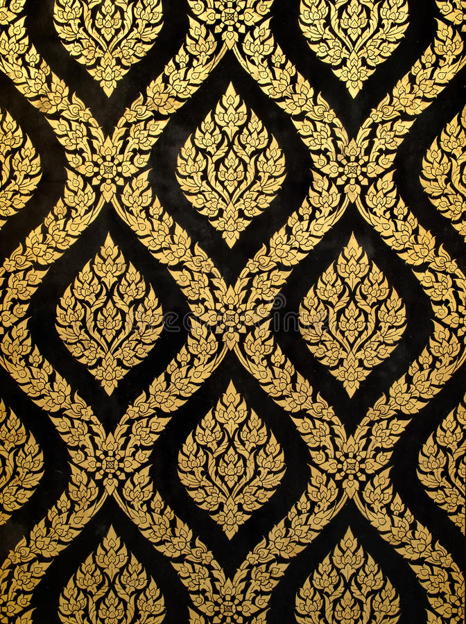 Thai art gold paiting stock image