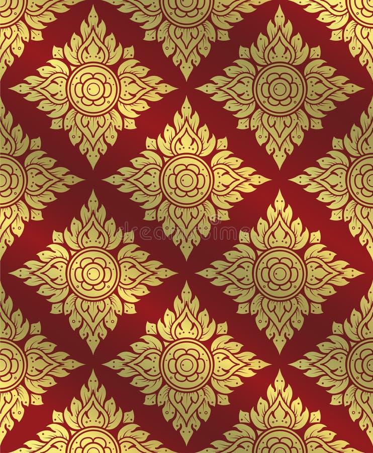 Thai art pattern,Traditional Thai background,line Thai vector stock illustration