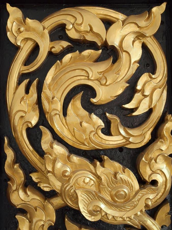 Thai art Wood carvings stock images