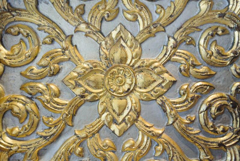 Download Thai Art Wood Craft Gold Leaf Finish Stock Photo - Image of style, thai: 27909514