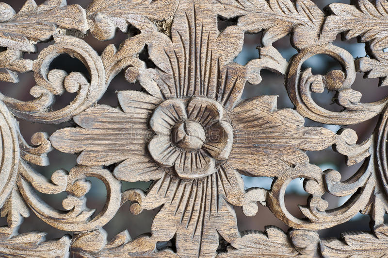 Thai Art Woodcraft. Royalty Free Stock Image