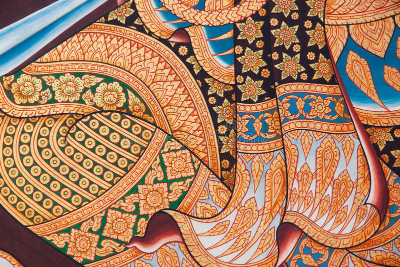 Thai arts paintings stock image