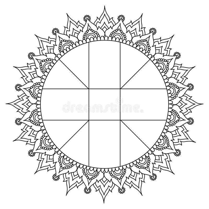 Horoscope Wheel Chart Stock Vector. Illustration Of