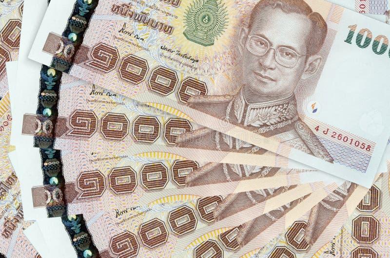 1000 thai baht. E banknote stack stock image