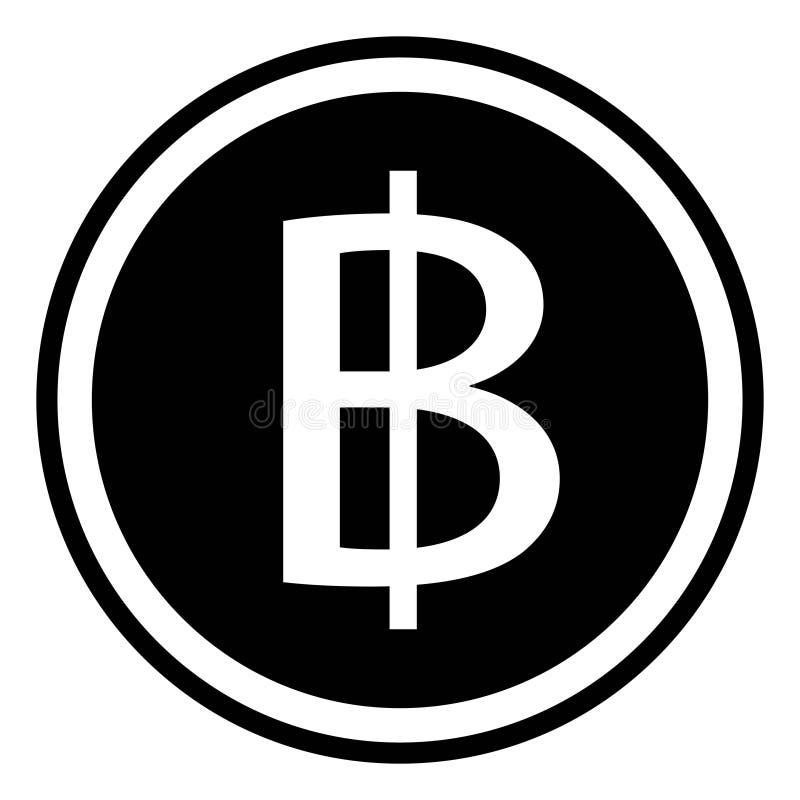 Thai Baht Sign Currency Thailand Baht Coin Stock Vector