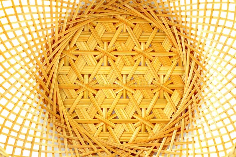 Thai bamboo basket texture stock photography
