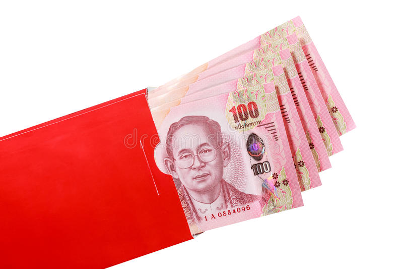 Thai Bank Note In Red Envelope For Chinese New Year Gift ...