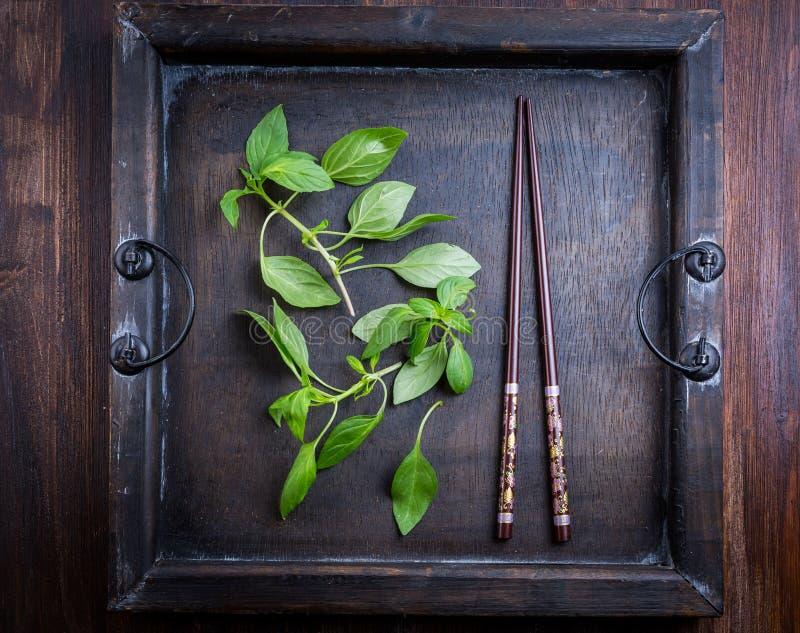 Thai basil leaves. Image of Thai basil leaves stock images