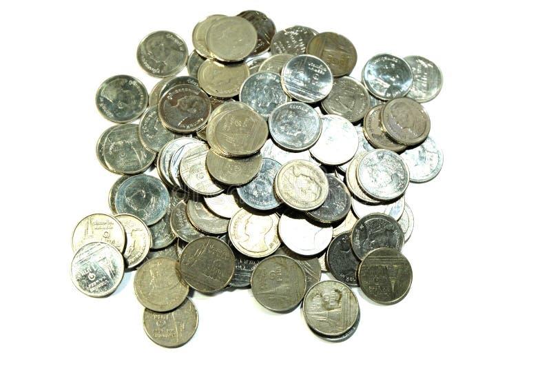 Thai bath coins stock image