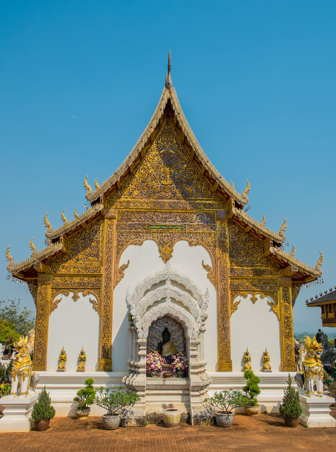 Thai beautiful temple stock photo