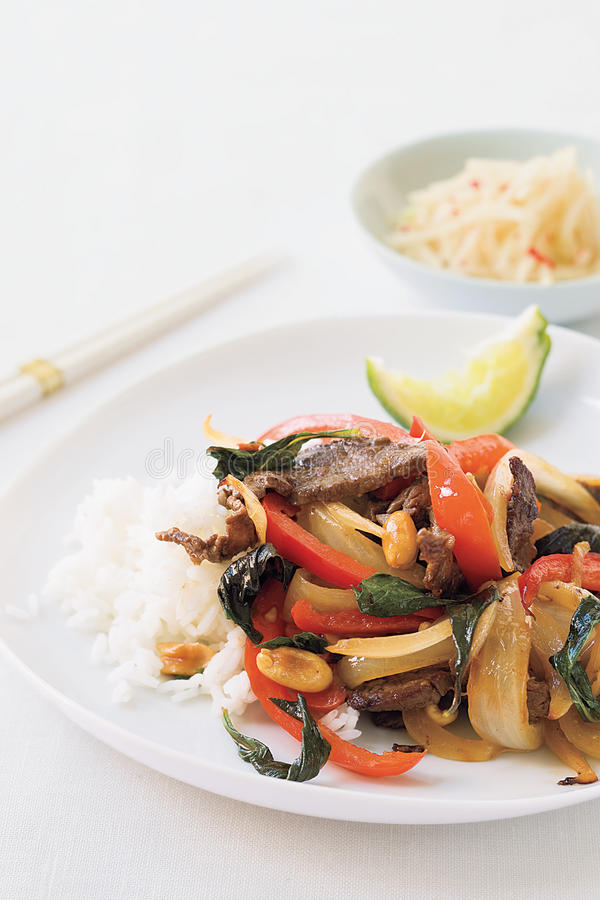Download Thai Beef With Chiles And Basil Stock Image - Image: 12098371